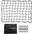 ValueHall CargoNet Heavy Duty Truck Bed Net 4 x 6 feet Stretches to 8 x 12 feet Cargo Net for Truck Bed Cargo Net with 12PCS