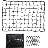 ValueHall Cargo Net Heavy Duty Truck Bed Net 4 x 6 feet Stretches to 8 x 12 feet Cargo Net for Truck Bed Cargo Net with 12PCS