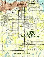 2020 Weekly Planner: Bradenton, Florida (1947): Vintage Topo Map Cover