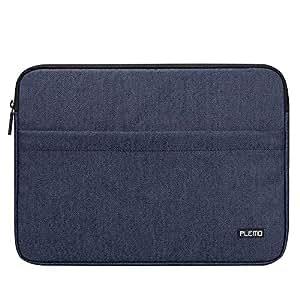 PLEMO ラップトップ スリーブ 13-13.5インチ ケース バッグ カバー デニム素材 MacBook Air MacBook Pro ノートブック用 デニムブルー