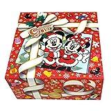 ディズニー クリスマス 2017 リゾート ラッピング風正方形箱 お菓子 詰め合わせ 菓子 おやつ ツリーBOX ミッキー ミニー リゾート 限定 お土産