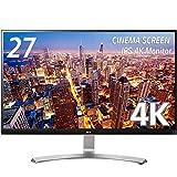 LG モニター ディスプレイ 27UD68-W 27インチ/4K(3840×2160)/IPS 非光沢/HDMI×2、DisplayPort/ブルーライト低減機能