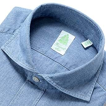 (フィナモレ)Finamore 製品洗いコットンシャンブレーシャツ『SIMONE』 (ライトインディゴブルー)メンズ【返品・交換不可】 39