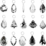 SunAngel Clear Jewelry Crystals Pendants &Chandelier Lamp Lighting Drops Prisms Hanging Glass Prisms Parts Suncatchers Prisms