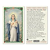 Our Lady of the Sacred Heart PrayerカードBlessed by his Holiness Francis