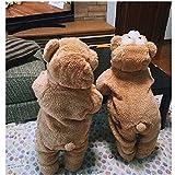 ダッフィー シェリーメイ くま フード付パーカー コート もこもこ 子供用 熊ちゃん ベビー 防寒 duffy ベビー服 赤ちゃん キッズ クリスマス ハロウィン (100(12~18ヶ月), ベージュ)