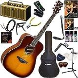 YAMAHA エレアコ 初心者 入門 ギターの生音にリバーブ、コーラスをかけられるトランスアコースティックギター レトロなデザインで多機能・高音質のYAMAHA THR5Aが入ってる大人の19点セット FG-TA/BS(ブラウンサンバースト)