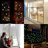 DIY Luminous Christmas Snowflake Fluorescent Wall Stickers Window Art Removable