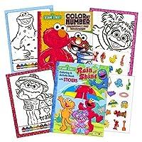 Sesame Street Stickers Toddler Coloring Book Set ~ Color By Number [Floral] [並行輸入品]