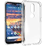 Nokia 4.2 Case, PUSHIMEI Soft TPU Crystal Transparent Slim Anti Slip Full-Body Protective Phone Case Cover for Nokia 4.2(Clea