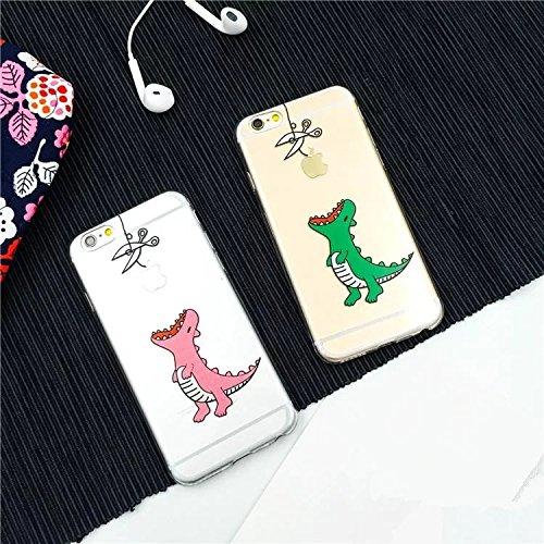 【ノーブランド品】携帯ケース 恐竜リンゴを食べて携帯ケース iPhone6/6S iPhone6 Plus/6sPlus 可愛い カップル携帯ケース プレゼントにも素晴らしい ピンク iPhone6/6S