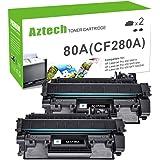 Aztech Compatible Toner Cartridge Replacement for HP Laserjet 80A CF280A 80X CF280X Laserjet Pro 400 M401A M401D M401N M401DN