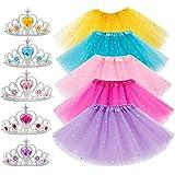 10Pcs Princess Dress up Tutu Crown Accessories Tiara Ballet Tutu Skirt for Girls Costume Party Favors