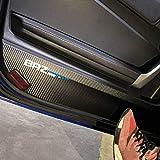 車のインテリアモールディングドアアンチキックパッドPVCレザードアトリムカバースバルBRZトヨタ86 2013-2020用カーステッカー (For BRZ Style)