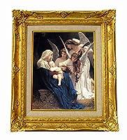 世界の名画 ブクロー 天使の歌 ジクレーキャンバス複製画F3号豪華額装品