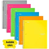 "Five Star Spiral Notebook, 3 Subject, College Ruled Paper, 150 Sheets, 11"" x 8-1/2"", Color Selected for You (06050)"