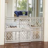"""North States MyPet Paws 40"""" Portable Pet Gate: Expands & locks In place with no tools. Pressure Mount. Fits 26""""- 40"""" wide (23"""