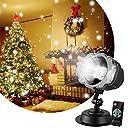 プロジェクターライト 投影ランプ LEDイルミネーションライト ステージライト クリスマス飾りライト RGB多色変化 LED投光器 舞台照明 エフェクトライト スポットライト ロマンチック パーティー 雪花 雰囲気作り 12W UL認定 リモコン付き kingwill