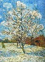 手描き-キャンバスの油絵 - Peach 森とジャングル in Blossom 2 フィンセント・ファン・ゴッホ 芸術 作品 洋画 ウォールアートデコレーション VVG3 -サイズ08