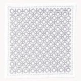 オリンパス 刺し子ハンカチ iine(イーネ) 紫陽花 約横20cm×縦20cm OLY-HK-6