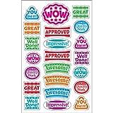 Trend Enterprises トレンド superShapes Stickers Large Praise Words 【ごほうびシール】 よくできました ご褒美シール 大 (176枚入り)