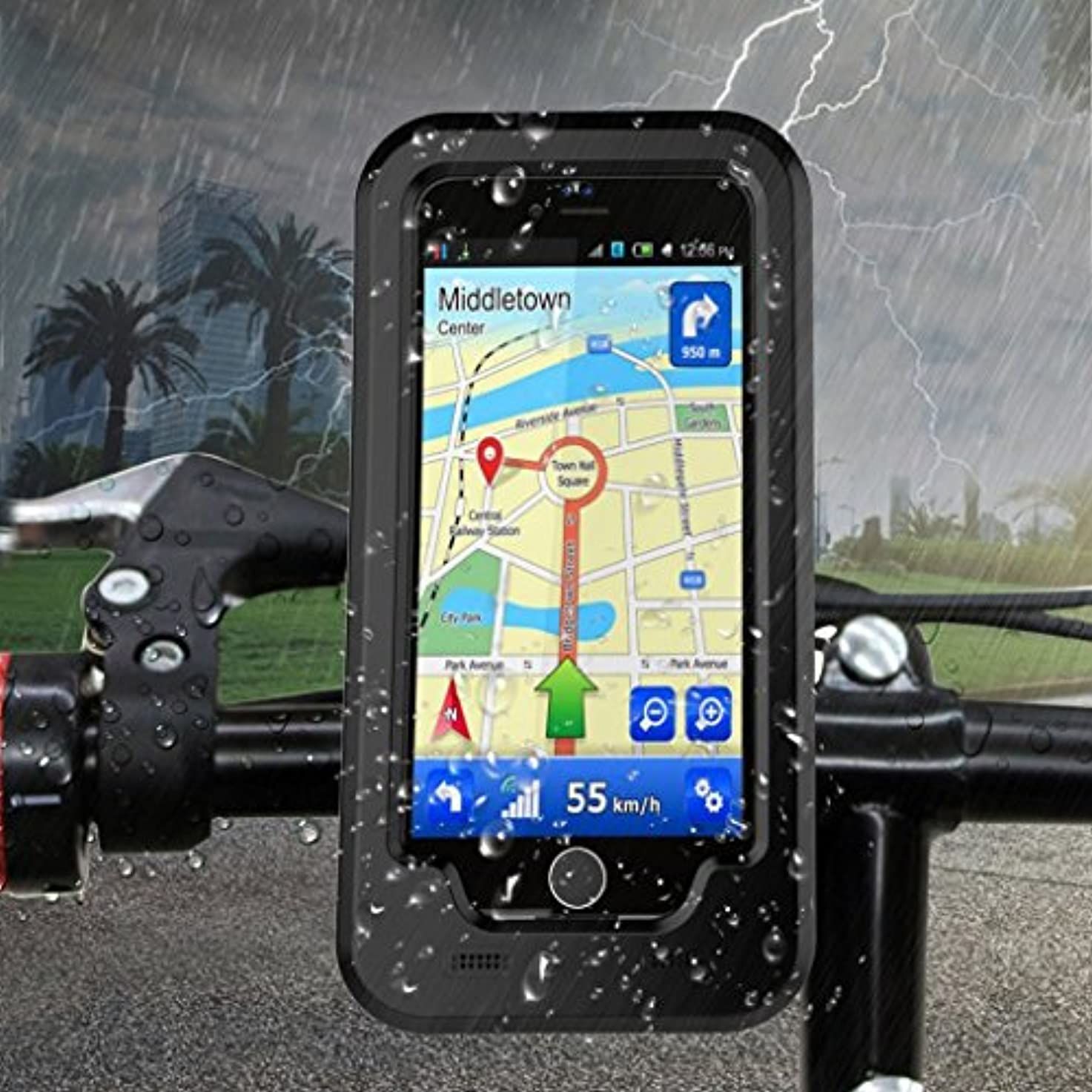 を必要としています予防接種災難防水バイクハンドルバー携帯電話ホルダーブラケット屋外ブラケットiPhone X 7 6s 8プラス5s自転車自転車GPS携帯電話パッケージ (色 : For iPhone 6s)