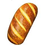 Gecter Funny 3D Simulation Bread Shape Pillow Soft Lumbar Back Cushion Plush Stuffed Toy for Home Decor (60CM)