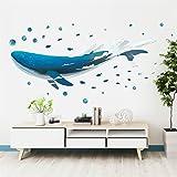 AAPBBクジラ壁 ステッカー 美しい動物ウォールステッカー装飾ロマンチックなアートの装飾寝室のリビングルームのバスルームの部屋のテーマベルーガ装飾DIYウォールステッカー
