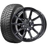 【2017年製】国産スタッドレスタイヤ(195/65R15)+ホイール(15インチ)4本SET(1台分) ■Cセット:G.speed G-02[メタリックブラック]