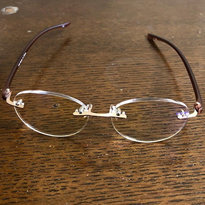 老眼鏡 シニアグラス Two Point ブルーライトカット 118 全2色 リーディンググラス 男性用 女性用 ブルーライトカット 35% ブラウン 度数 2.0