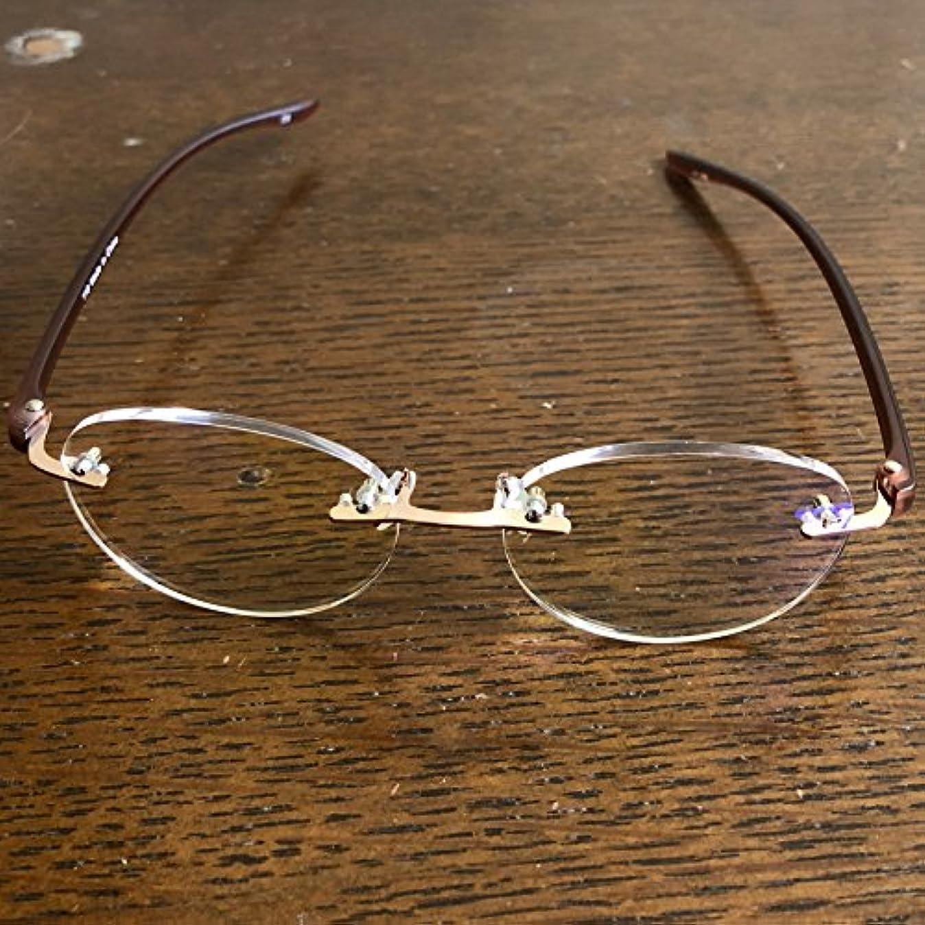 老眼鏡 シニアグラス Two Point ブルーライトカット 118 全2色 リーディンググラス 男性用 女性用 ブルーライトカット 35% ブラウン 度数 2.5