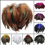 100本ふわふわファッションルースターフェザークラフトDIY 6-8(ランダム:カラー)