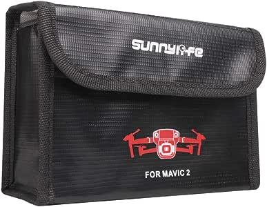 DJI ドローン Mavic2 Pro Mavic2 Zoom専用バッテリー保護バッグ 収納袋 高温保護 爆裂防止 1個用/2個用/3個用 (3個用)