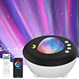 YunLone Aurora Projector Star Projector Galaxy Projector Lights for Bedroom Smart WIFI Night Light Lamp with Music speaker, S
