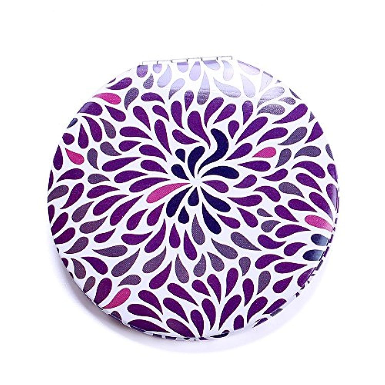 HuaQingPiJu-JP ミニラウンドシンプルなパターン小さなガラスミラーサークル工芸装飾化粧品アクセサリー