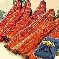 鰻(うなぎ) の特大長蒲焼きセット 風呂敷包み (5本セット 紺色風呂敷)