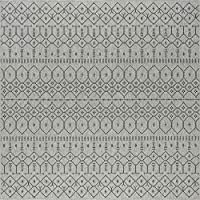 Universal Rugs SRN1118 6SQR Elsa Area Rug 5' Square Charcoal [並行輸入品]