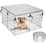 """EXPAWLORER Double Side Dog Crate Cover - Sun-Proof & Water-Proof Top Kenne Cover for Outdoor and Indoor Fits 24"""" Crate with 8"""