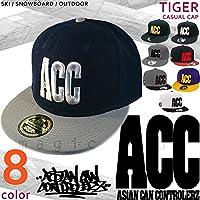 3Dロゴ フラット キャップ メンズ レディース フラットバイザー ベースボール 帽子 ACC(エーシーシー) スナップバック ストリート ブランド 平らつば おしゃれ かっこいい CAP-EAGLE ブラック/ホワイト