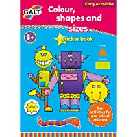 Galt Toys Home Learning Colour Shapes and Sizes Sticker Books