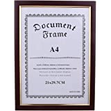 Prettyia A4 Size Wooden Frame for Diploma/Certificate/Photo/Artwork/Picture/Documents- Perfect for Vertically or Horizontally