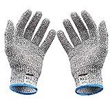 軍手 防刃 防刃手袋 作業用 手袋 作業グローブ 切れない手袋 耐切創手袋 (L(防刃5級)) -