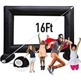 Sewinfla 16Ft Inflatable Movie Screen Outdoor - Supports Front and Rear - Projection Jumbo Theater Projector Screen for Garde