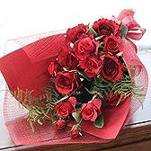 思いを込めて豪華な紅いバラの花束  (CT触媒加工) (お誕生日、発表会、お礼、ご挨拶、ご両親へ)1804-1601-farg-mam【シルクフラワー】【造花】