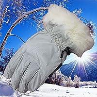 Ski Gloves, Waterproof Warmest Winter Snow Gloves for Womens, Girls, Kids Work Gloves (Color : White)