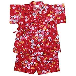 《盛夏 甚平》(ジンベイ) 日本製ベビー女児 リップル生地金魚総柄甚平スーツ 95cm/RE NO.OG-75570