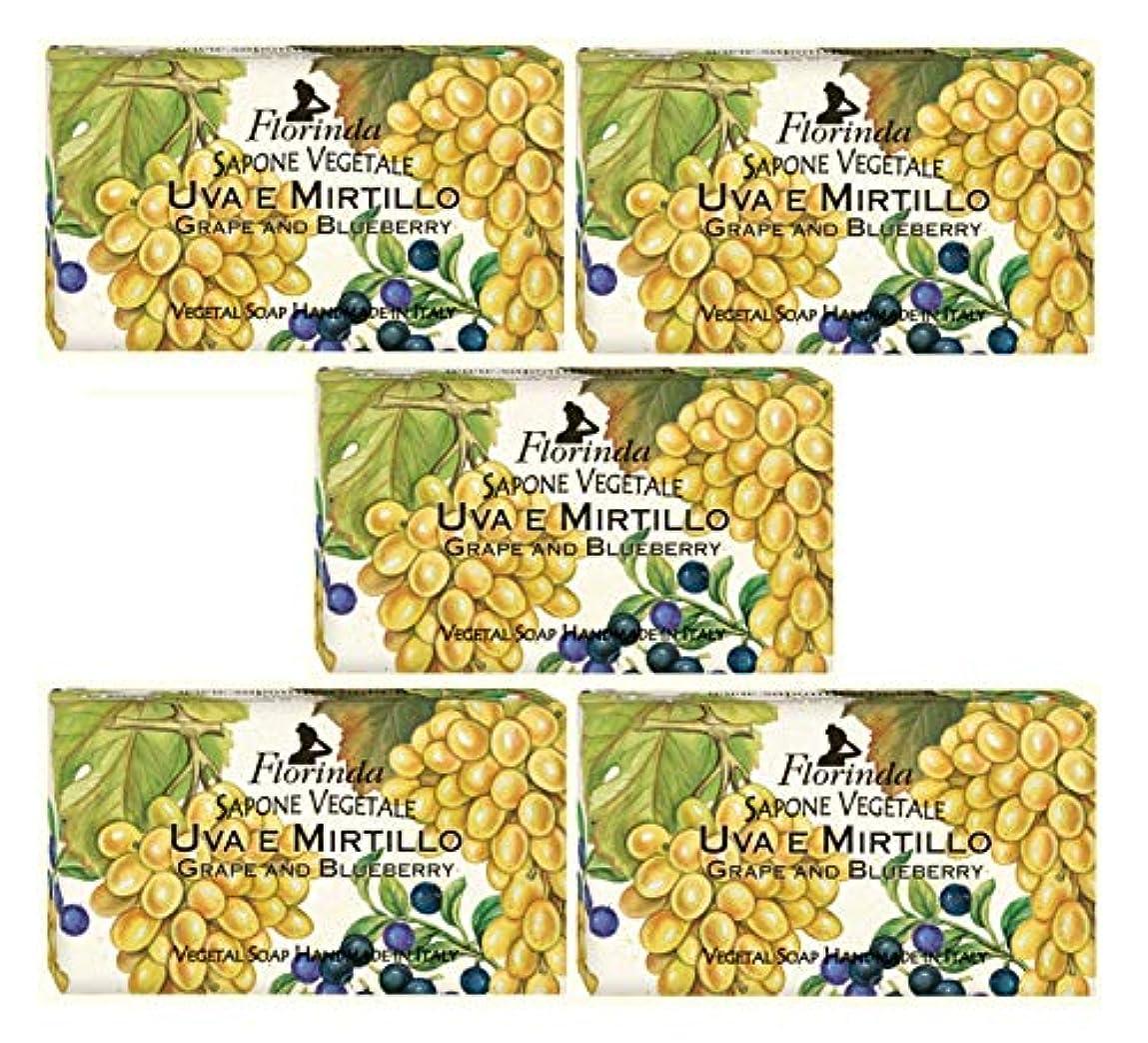 バスタブ北極圏魅力的フロリンダ フレグランスソープ 固形石けん フルーツの香り グレープ&ブルーベリー 95g×5個セット