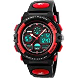 Kids Sports Watch Waterproof Digital Watches Colorful LED Display Wristwatches for Children with Multi Function