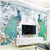 Xbwy カスタム写真壁紙3Dステレオピーコック壁画リビングルームテレビソファ家の装飾背景壁画現代-200X140Cm