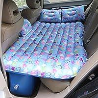 インフレータブルカーベッドの旅行の快適さ、インフレータブルクッションマットレスの車の後部座席とエアポンプ、キャンプエアベッド